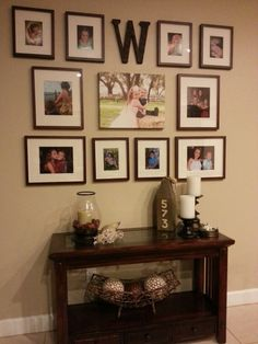 photo wall collage living room no frames Canvas Wall Collage, Photo Wall Collage, Living Room Modern, My Living Room, Wedding Collage, Wedding Wall, Living Room Photos, Family Wall, Family Collage