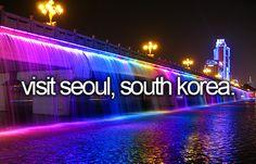 Visit Seoul, South Korea / Bucket List Ideas / Before I Die