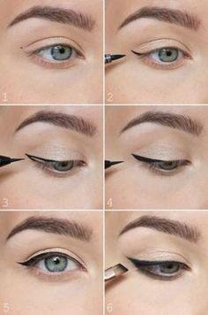 Eye Makeup Eyeliner Liquid Liner Make Up 63 Ideas Eyeliner Make-up, Winged Eyeliner Tricks, Perfect Winged Eyeliner, Winged Eyeliner Tutorial, Eyeliner For Beginners, Eyeliner Hacks, Winged Liner, Step By Step Eyeliner, Eyeliner Ideas