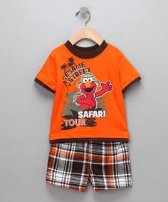 I would be dressing my little guys in this for a fall trip to the zoo!! LOL  #Zulily #Fall