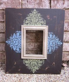 5x7 Distressed Picture Frame Asphaltum / French by ShirleyFrames, $61.00