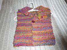 Child's Hoodie, Hand Knit Hoodie, Vest, Sleeveless Hoodie, Girls Hoodie by bonitastewart on Etsy