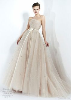 zuhair murad fall 2011 wedding dress   beautiful tulle strapless ball gown; below, gorgeous powder pink gown with draped bodice.