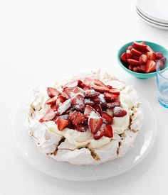 A Christmas recipe from Australian Gourmet Traveller for pavlova with strawberries by Kylie Kwong. Aussie Food, Australian Food, Australian Recipes, Christmas Pavlova, Christmas Desserts, Chef Recipes, Dessert Recipes, Dessert Tray, Dessert Ideas