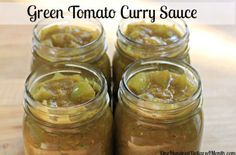 3 lbs. cubed green tomatoes, about 6 cups {no peeling or coring needed} 2 onions, coarsely chopped 1/4 cup butter 4 tbsp. curry powder 1 tbsp. cumin 1 cup water 1/2 cup brown sugar 2 tbsp. lemon juice 1/2 tsp salt