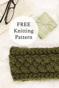 Designer Knitting Patterns, Cable Knitting Patterns, Loom Knitting Projects, Knitting Designs, Free Knitting, Hat Patterns, Knitting Hats, Sewing Patterns, Knit Headband Pattern