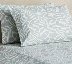 Grayson Geometric Sheet Set #potterybarn $90 (sale) for queen sheet set
