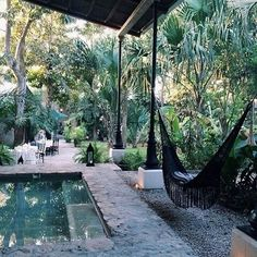 Hammock by the pool in a forrest would be lush!  Hope gypsy boho