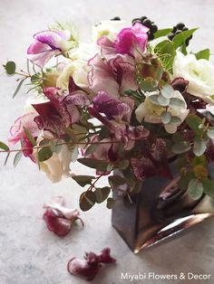 Sweetpea,Rananculas,スィートピー,ラナンキュラス,Chic, Flower Arrangement,Miyabi Flowers & Decor