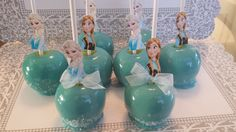 Frozen Ana and Elsa Candy Apples
