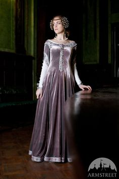 Custom Renaissance Dress Lady Rowena velvet gown by armstreet
