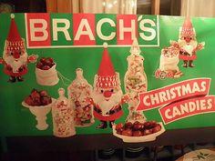 vintage 1972 brachs christmas candies advertising poster board christmas scenes christmas candy christmas