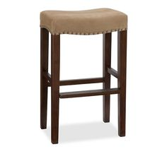 Manchester Backless Barstool, Counter Height, Espresso stain Frame with Light Wheat Performance everydaysuede™ Upholstery