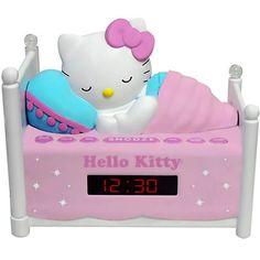 Purchase Hello Kitty Sleeping Kitty Alarm Clock Radio with Night Light from Destiny's Gift Inc. Share Hello Kitty Sleeping Kitty A Cute Alarm Clock, Radio Alarm Clock, Hello Kitty Photos, Hello Kitty Items, Hello Kitty Stuff, Hello Kitty Room Decor, Hello Kitty Bedroom, Hello Kitty Bedding, Hello Kitty Rosa