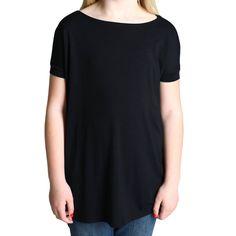 Black Piko Kids Short Sleeve Top