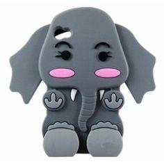 Vococal Cute Cartoon 3D Silicone Elephant Peau Couverture Etui pour iPhone 4 4S gris: Amazon.fr: High-tech