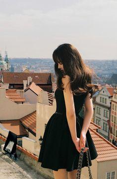 black one-piece, romantic!   milkcocoa   little black dress