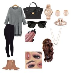 """Winter"" by lovemyheart on Polyvore featuring River Island, Forever 21, Michael Kors, Kenneth Jay Lane and Ray-Ban"
