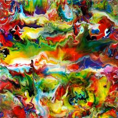 Fluid Painting 92 by Mark Chadwick