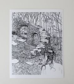 """""""Staircase in the Woods"""" Art Print by Sarah Getchell, via Gate Hill Prints on Etsy."""