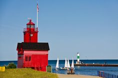"""Big Red"" Lighthouse; Holland, Michigan"
