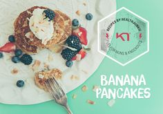 A healthy snack or breakfast during the weekend kicks up your energy level for your training. This is sooo easy and taste soooo yummy ; Banana Pancakes, Energy Level, Healthy Snacks, Healthy Living, Kicks, Training, Baking, Breakfast, Easy