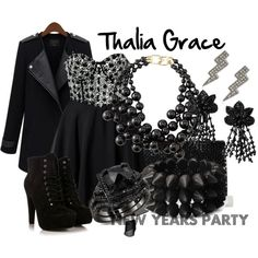 Thalia by fictionfreak on Polyvore featuring Club L, Forever 21, Kenneth Jay Lane and Betsey Johnson
