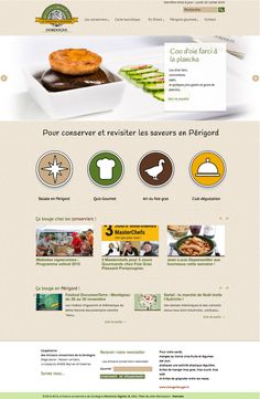 Création site web http://www.artisans-du-foiegras.fr #Designgraphique #gastronomie #foiegras #Périgord