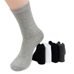 高品質メンズビジネス綿の靴下用男ブランド秋冬黒靴下男性白カジュアルソックス12ピース= 6ペア/ロット