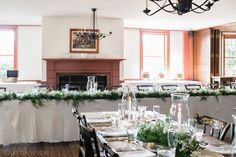 July Eagle Tavern Wedding Set-up. -- Stunning and Classic.