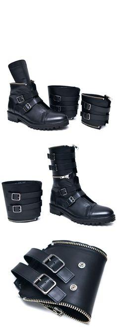 fendi designer belts xg8x  3 way Deconstructable Long Belted Biker-Shoes 596 by Guylookcom Top  quality cowhide