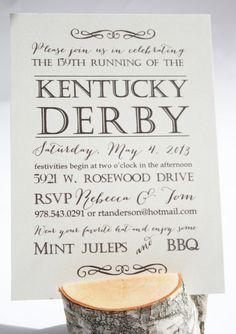 Kentucky Derby Text Invitations. $25.00, via Etsy.