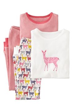 Mini Boden Snug Fitting Pajamas (2-Pack) (Toddler Girls, Little Girls & Big Girls) available at #Nordstrom
