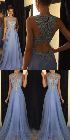 2017 prom dress, long prom dress, blue prom dress, evening dress, graduation dress, party dress