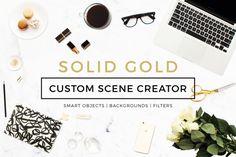 Custom Scene Creator- Solid Gold by Design Love Shop on Creative Market