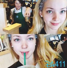Photos: Dove Cameron Grabbed A Starbucks Drink While Getting Her Hair Done September 16, 2014