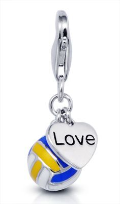 volleyball+bracelets | Our new love volleyball 'clip on charm'. #volleyball #jewelry