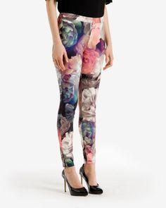 Technicolour Bloom leggings - Black | Pants | Ted Baker