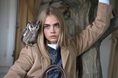 Cara Delevingne behind the scenes of the Mulberry Autumn Winter 2013 campaign shoot.