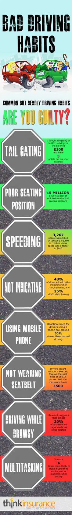 bad driving habits infographic