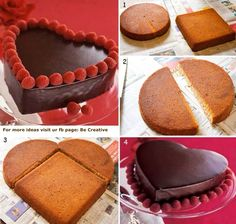 How to make a Heart-shaped Cake <3