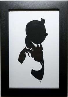 tintin silhouette - Recherche Google