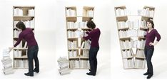 Mine is like that, but mine wasn 't made to expand!  Too much books cause the same effect!  http://www.incrediblethings.com/lists/20-brilliant-bookcases/