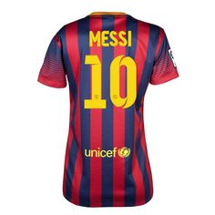 Woman Buy New Barcelona Home Soccer Jersey 2013 2014 Collection10 Messi Nike  soccer shop Camisetas 84922d68977