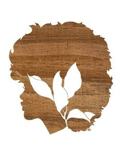 Naturally Faux Bois Natural Hair Girl and Leaf Silhouette Art