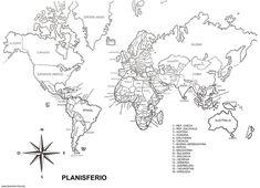 Mapamundi blanco y negro - Imagui                              …