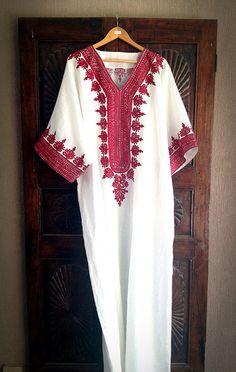 Kaftan white linen caftan long maxi dress by ArabianThreads, $185.00