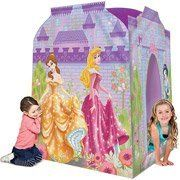 Playhut Disney Princess Deluxe Playhouse by Disney. $69.99. The fairest house in all the land is the Disney Princess Playhut Deluxe Playhouse. With multiple tunnel ports and an expandable structure, this Disney Princess Playhouse accommodates up to four children at a time for hours of fun. This kid's Playhut Playhouse tent is made using soft and durable material and has mesh windows to peek through while playing. The Disney Princess Playhut Deluxe Playhouse is lightweight an... Big Girl Toys, Toys For Girls, Kids Furniture, Furniture Decor, Princess Playhouse, Acid Stained Concrete, Childhood Toys, Play Houses, Games For Kids