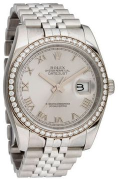 Rolex Datejust Watch Rolex Watches, Watches For Men, Oyster Perpetual Datejust, 3 O Clock, Rolex Datejust, Roman Numerals, Automatic Watch, Diamond, Bracelets