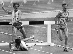Anders Gärderud | Anders Gärderud tar OS-guld på 3 000 m Hinder från nätet. 1976 i Montreal.